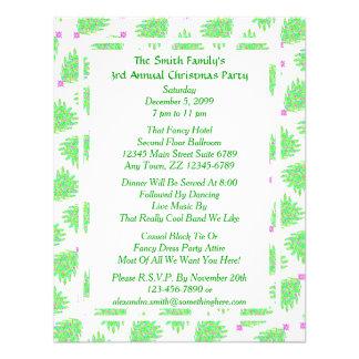 Motif coloré vert de vacances d arbre de Noël Bristols Personnalisés