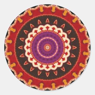 Motif coloré vibrant de sud-ouest tribal sticker rond