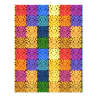 Motif couvrant carré multicolore de broderie prospectus 21,6 cm x 24,94 cm