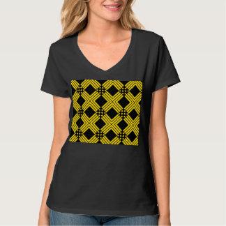 Motif croisé t-shirt