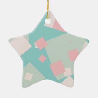 Motif cyan et rose coloré moderne de boîtes ornement étoile en céramique