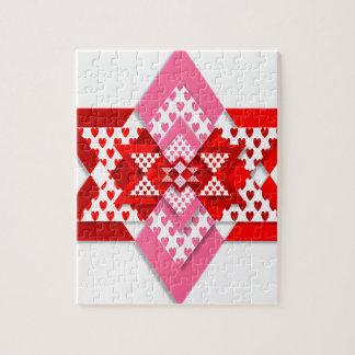 motif d'amour de coeur de valentine puzzle
