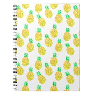 Motif d'ananas - carnet de notes à spirale
