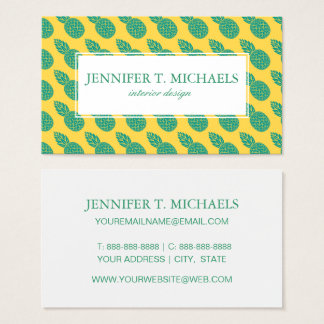 Motif d'ananas cartes de visite