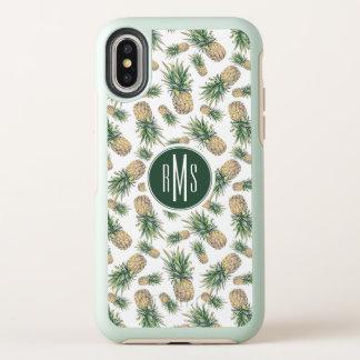 Motif d'ananas d'aquarelle