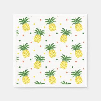 motif d'ananas d'aquarelle serviettes en papier
