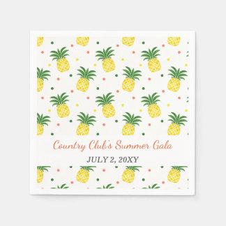 motif d'ananas d'aquarelle serviettes jetables