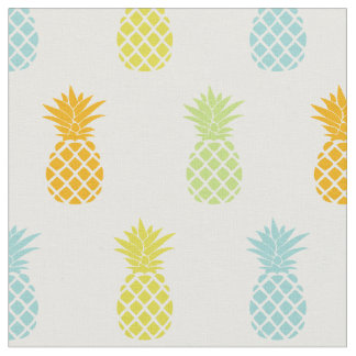 Motif d'ananas d'arc-en-ciel tissu