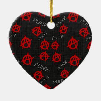 Motif d'anarchie ornement cœur en céramique