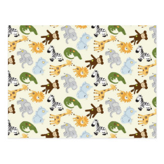 Motif d'animaux de jungle cartes postales