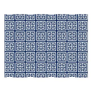 Motif dans bleu et blanc carte postale