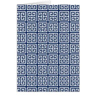 Motif dans bleu et blanc cartes de vœux