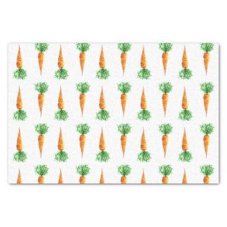 Motif d'aquarelle de carottes papier mousseline