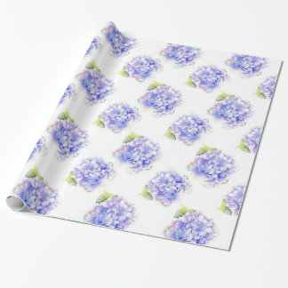 Motif d'aquarelle d'hortensia papier cadeau