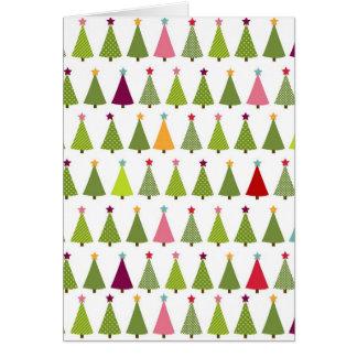 Motif d'arbre de Noël Cartes