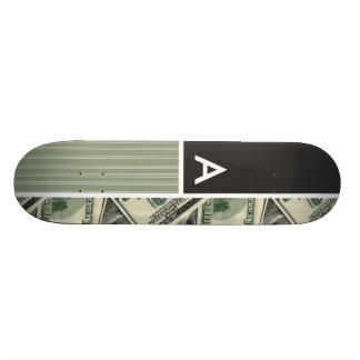Motif d'argent ; Vert Planches À Roulettes