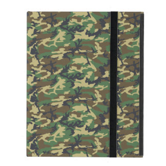 Motif d'armée, arrière - plan de Camo - vert jaune Coque iPad