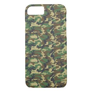 Motif d'armée, arrière - plan de Camo - vert jaune Coque iPhone 7