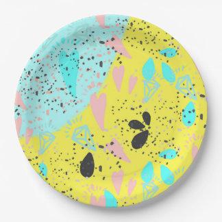 Motif d'art de bruit de pastels de sucrerie assiettes en papier