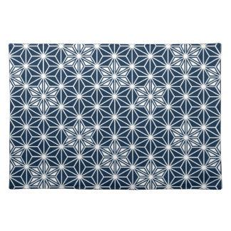 Motif d'Asanoha de Japonais - bleu et blanc Sets De Table