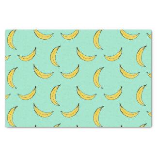 Motif de banane - bleu papier mousseline
