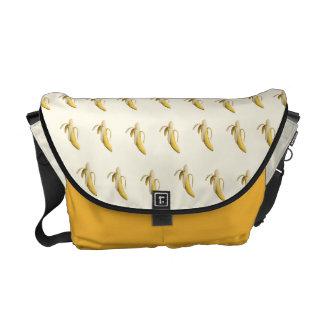 Motif de banane - sac messenger fait sur commande sacoches