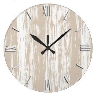 Taupe horloges taupe horloges murales - Grande horloge murale bois ...
