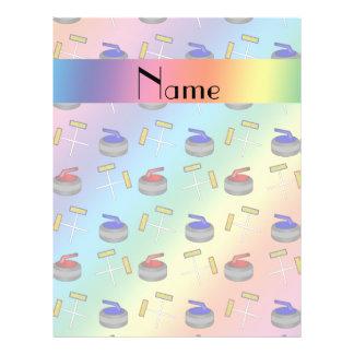 Motif de bordage personnalisé d'arc-en-ciel nommé tract