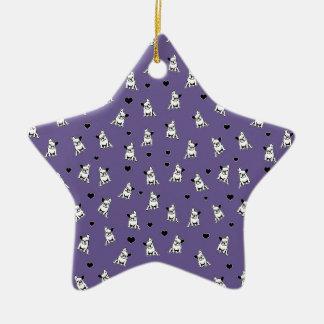 Motif de bouledogue ornement étoile en céramique