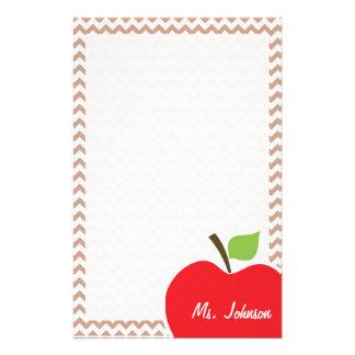 Motif de Brown Chevron ; Apple Papiers À Lettres