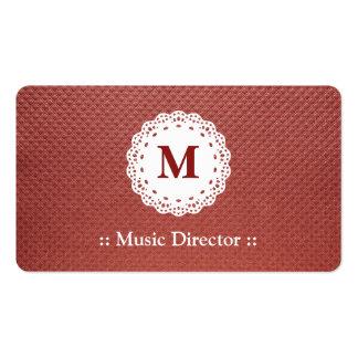 Motif de Brown de monogramme de dentelle de direct Carte De Visite
