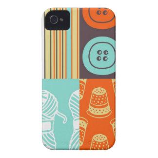 motif de Bruit-art - cousant Coque iPhone 4 Case-Mate