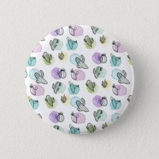 motif de cactus d'aquarelle badge