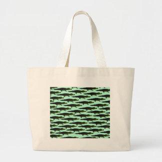 Motif de Caiman dans green.png Sac En Toile Jumbo