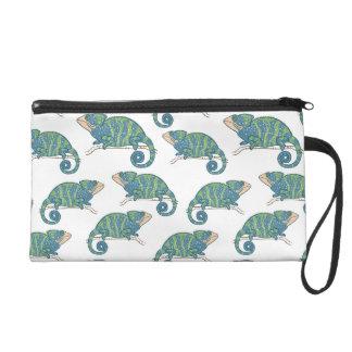 Motif de caméléon pochette avec dragonne