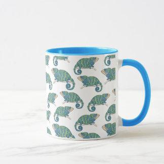 Motif de caméléon tasses