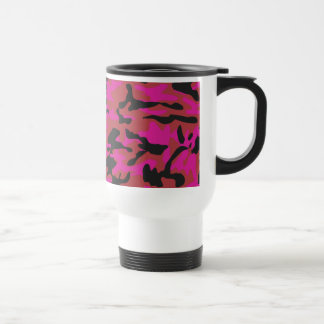 Motif de camo de roses indien mug de voyage