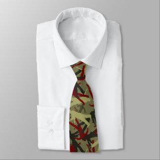 Motif de Camo de zombi Cravate