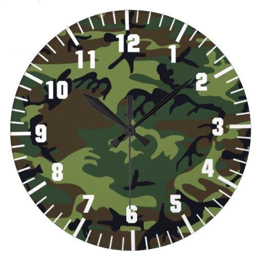motif de camouflage d'armée pendules murales