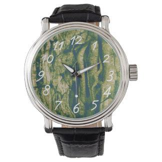 Motif de camouflage d'écorce d'arbre montres