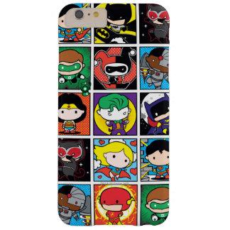 Motif de caractère de ligue de justice de Chibi Coque iPhone 6 Plus Barely There