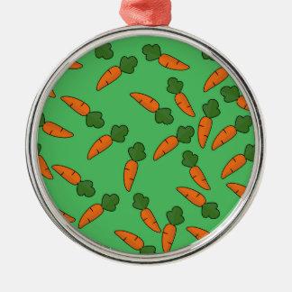 Motif de carotte ornement rond argenté