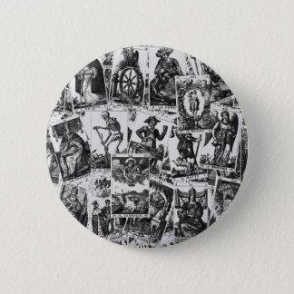 Motif de cartes de tarot badge