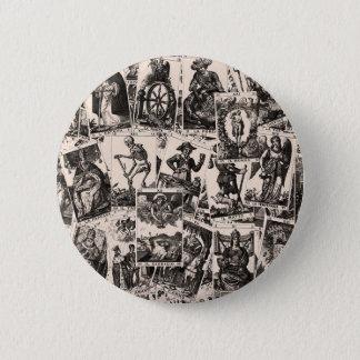 Motif de cartes de tarot badges