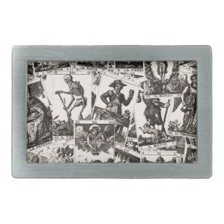 Motif de cartes de tarot boucle de ceinture rectangulaire