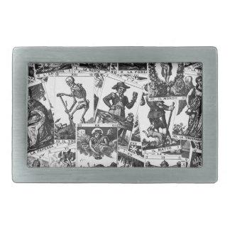 Motif de cartes de tarot boucles de ceinture rectangulaires