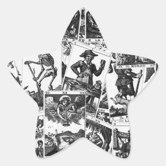Motif de cartes de tarot sticker étoile