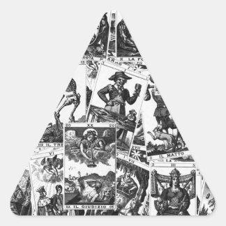 Motif de cartes de tarot sticker triangulaire