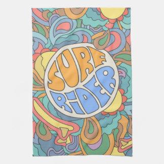 Motif de cavalier de surf serviettes éponge