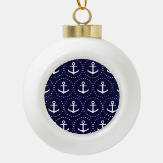 Motif de cercle d'ancre de marine boule en céramique